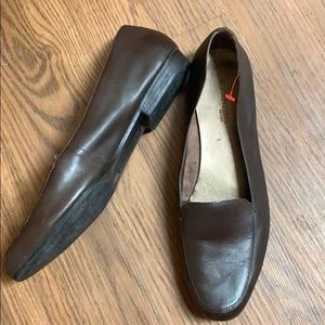 St. John's Bay Brown Leather Loafer Shoes Flats